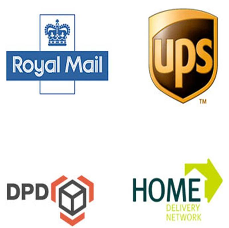 Delivery - Royal Mail, UPS, DPD, Home